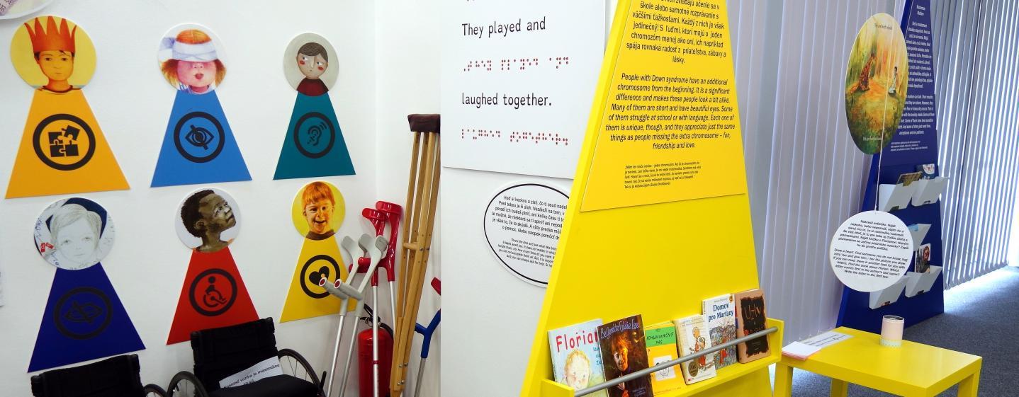 Nazrieť do knižných príbehov a aspoň na chvíľu si skúsiť, aký je život s postihnutím, môžete na interaktívnej výstave BIBIANY.