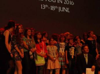 Slávnostné zakončenie festivalu Annecy 2015 a odovzdávanie cien v kultúrnom centre Bonlieu
