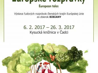 EUROPEAN TALES in Kysuce Library , poster