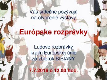 EURÓPSKE ROZPRÁVKY  Miestna knižnica Petržalka, Turnianska ul., Bratislava