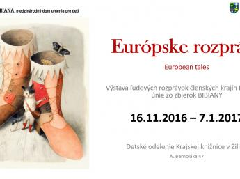 EURÓPSKE ROZPRÁVKY v Krajskej knižnici, Žilina - pozvánka