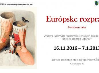 EUROPEAN TALES in Regional Library, Žilina - poster