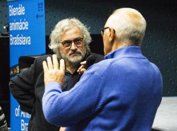 Uvedenie filmu Cervená korytnačka autorom Michäel Dudok de Witom, s úvodom filmového historika Giannalberta Bendazziho