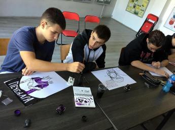 workshopy (Nový Sad a Belehrad) viedol slovenský výtvarník Miroslav Regitko