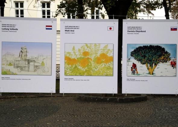 Ilustrátori ocenení na BIB 2017 na Hviezdoslavovom námestí