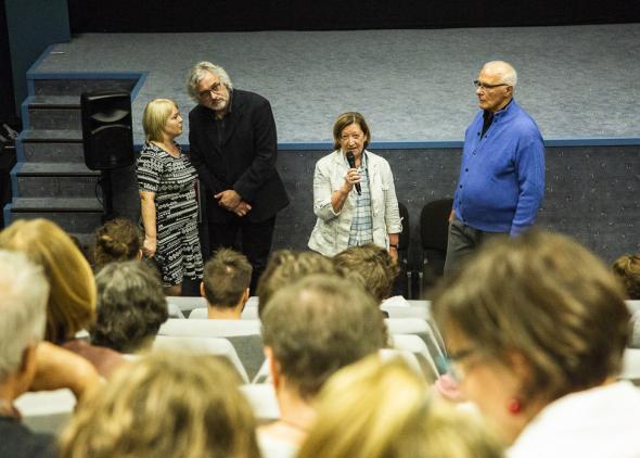 Uvedenie filmu Cervená korytnačka autorom Michael Dudok de Witom, s úvodom filmového historika Giannalberta Bendazziho